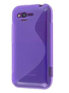 HTC Rhyme Wave Case - Frosted Purple/Purple Soft Cover