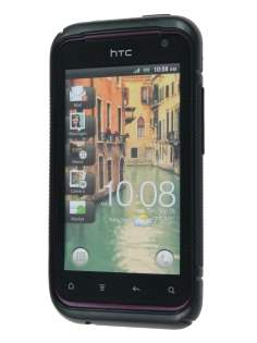 HTC Rhyme Wave Case - Frosted Black/Black