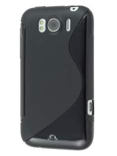 HTC Sensation XL Wave Case - Frosted Black/Black Soft Cover