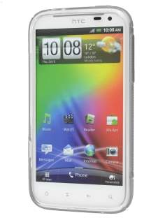 HTC Sensation XL Wave Case - Frosted Clear/Clear