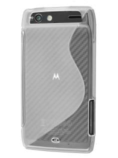 Wave Case for Motorola RAZR - Frosted Clear/Clear Soft Cover