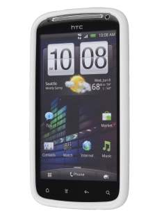 HTC Sensation Dual-Design Case - White/Frosted Clear