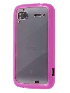 HTC Sensation Dual-Design Case - Pink/Frosted Clear