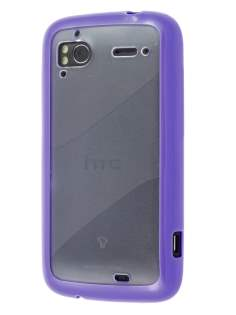 HTC Sensation Dual-Design Case - Purple/Frosted Clear