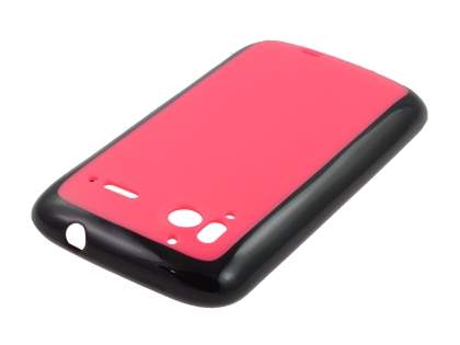 HTC Sensation Dual-Design Case - Black/Pink
