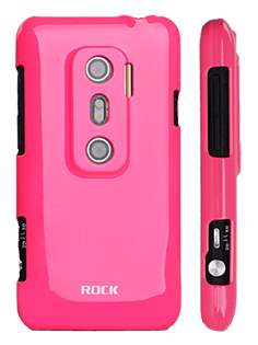 ROCK Nakedshell Colour Case for HTC EVO 3D - Glossy Pink Hard Case