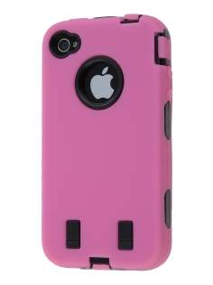 Defender Case for iPhone 4/4S - Pink/Black Impact Case