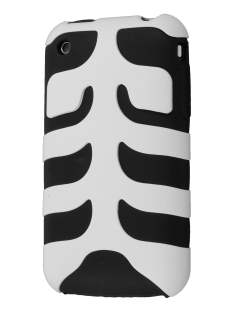 Two Piece Back Case for iPhone 3G/3GS - White/Black Dual-Design Case