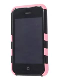 Two Piece Back Case for iPhone 3G/3GS - Baby Pink/Black