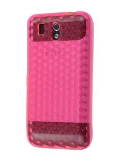 TPU Gel Case for HTC Legend - Diamond Pink Soft Cover