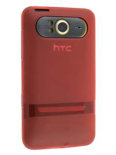 TPU Gel Case for HTC HD7 - Frosted Red Soft Cover