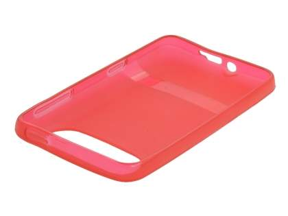 HTC HD7 TPU Gel Case - Frosted Red