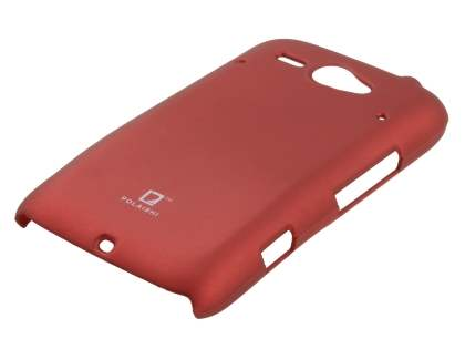 POLAISHI HTC ChaCha Ultra Slim Case plus Screen Protector - Burgundy Red