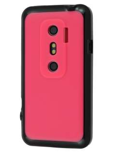 HTC EVO 3D Dual-Design Case - Black/Hot Pink