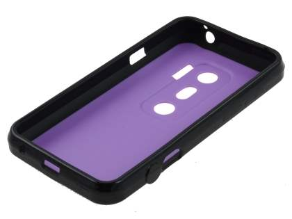 Dual-Design Case for HTC EVO 3D - Black/Purple