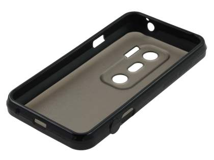 Dual-Design Case for HTC EVO 3D - Black/Frosted Grey