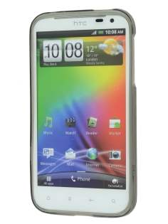 TPU Gel Case for HTC Sensation XL - Frosted Grey