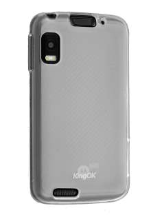 KingOK Frosted TPU Case for Motorola ATRIX - Frosted Clear Soft Cover