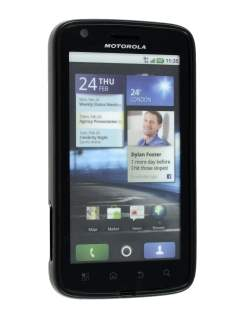 KingOK Frosted TPU Case plus Screen Protector for Motorola ATRIX - Classic Black