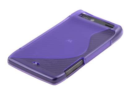 Motorola RAZR Wave Case - Frosted Purple/Purple