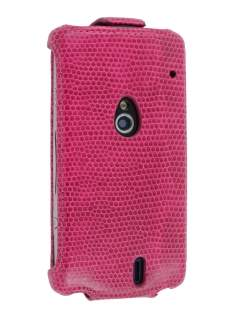 Synthetic Leather Flip Case for Sony Ericsson Xperia neo MT15i - Hot Pink Leather Flip Case