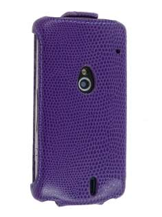 Synthetic Leather Flip Case for Sony Ericsson Xperia neo MT15i - Purple Leather Flip Case