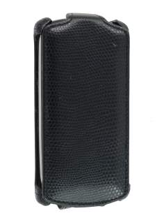 Sony Ericsson Xperia neo MT15i Slim Synthetic Leather Flip Case - Black