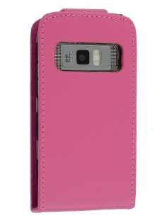 Synthetic Leather Flip Case for Nokia C7 - Pink Leather Flip Case