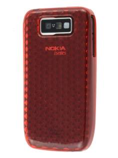 TPU Gel Case for Nokia E63 - Diamond Red Soft Cover