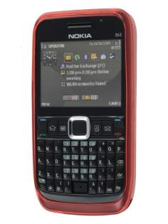 TPU Gel Case for Nokia E63 - Diamond Red