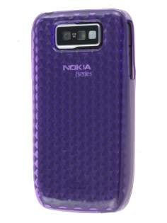 TPU Gel Case for Nokia E63 - Diamond Purple Soft Cover