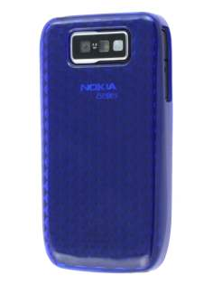 TPU Gel Case for Nokia E63 - Diamond Blue Soft Cover