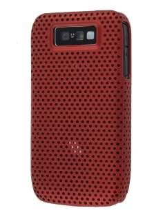 Slim Mesh Case for Nokia E63 - Burgundy Red Hard Case
