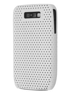 Slim Mesh Case for Nokia E63 - Pearl White Hard Case
