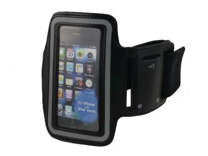 Universal Sports Arm Band for iPhone 4S/4 - Classic Black Sports Arm Band
