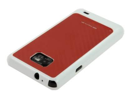 LIM'S Carbon Capsule Protective Case plus Screen Protector for Samsung I9100 Galaxy S2 - Carbon Red