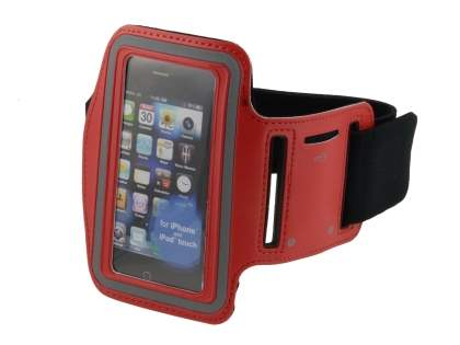 Universal Sports Arm Band for iPhone 4S/4 - Red Sports Arm Band