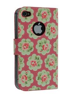 Vintage Inspired Lacquered Slim Synthetic Leather Portfolio Case for iPhone 4/4S