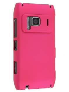 Nokia N8 UltraTough Rubberised Slim Case - Hot Pink Hard Case