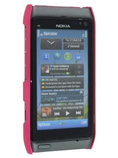 Nokia N8 UltraTough Rubberised Slim Case - Hot Pink