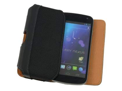 Samsung Google Galaxy Nexus I9250 Synthetic Leather Belt Pouch