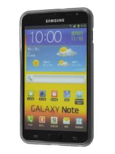 REMAX Samsung I9220 Galaxy Note Frosted TPU Case plus Screen Protector - Frosted Clear