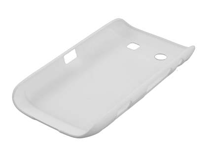 BlackBerry Torch 9860 UltraTough Rubberised Slim Case - Pearl White