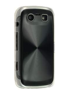 BlackBerry Torch 9860 Grain Plated Aluminium Hard Case - Black/Clear Hard Case