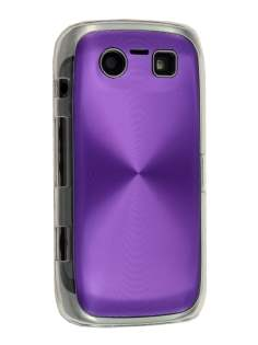 BlackBerry Torch 9860 Grain Plated Aluminium Hard Case - Purple/Clear Hard Case