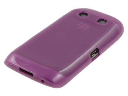 BlackBerry Torch 9860 Frosted TPU Gel Case - Frosted Purple