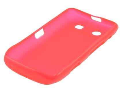 BlackBerry Torch 9860 Frosted TPU Gel Case - Frosted Red