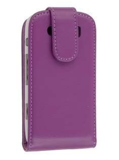 BlackBerry Torch 9860 Synthetic Leather Flip Case - Purple Leather Flip Case