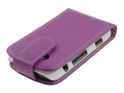 BlackBerry Torch 9860 Synthetic Leather Flip Case - Purple
