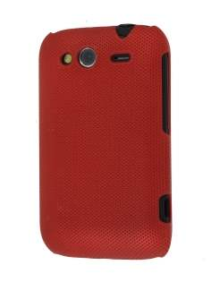 Micro Mesh Case for HTC Wildfire S - Burgundy Red Hard Case